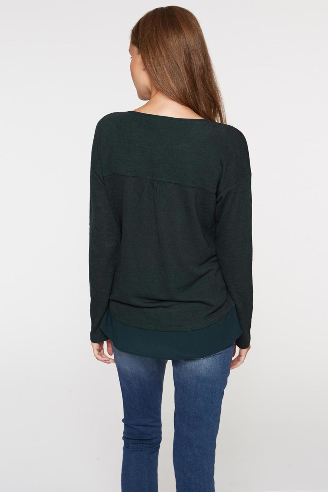 Sanctuary Soft Sweater Tee - Back Cropped Image