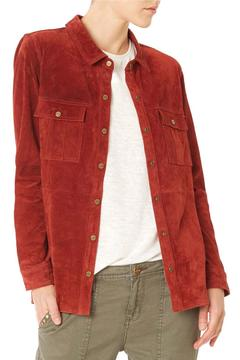 Sanctuary Suede Long Sleeve Shirt Jacket - Product List Image