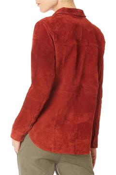 Sanctuary Suede Long Sleeve Shirt Jacket - Alternate List Image