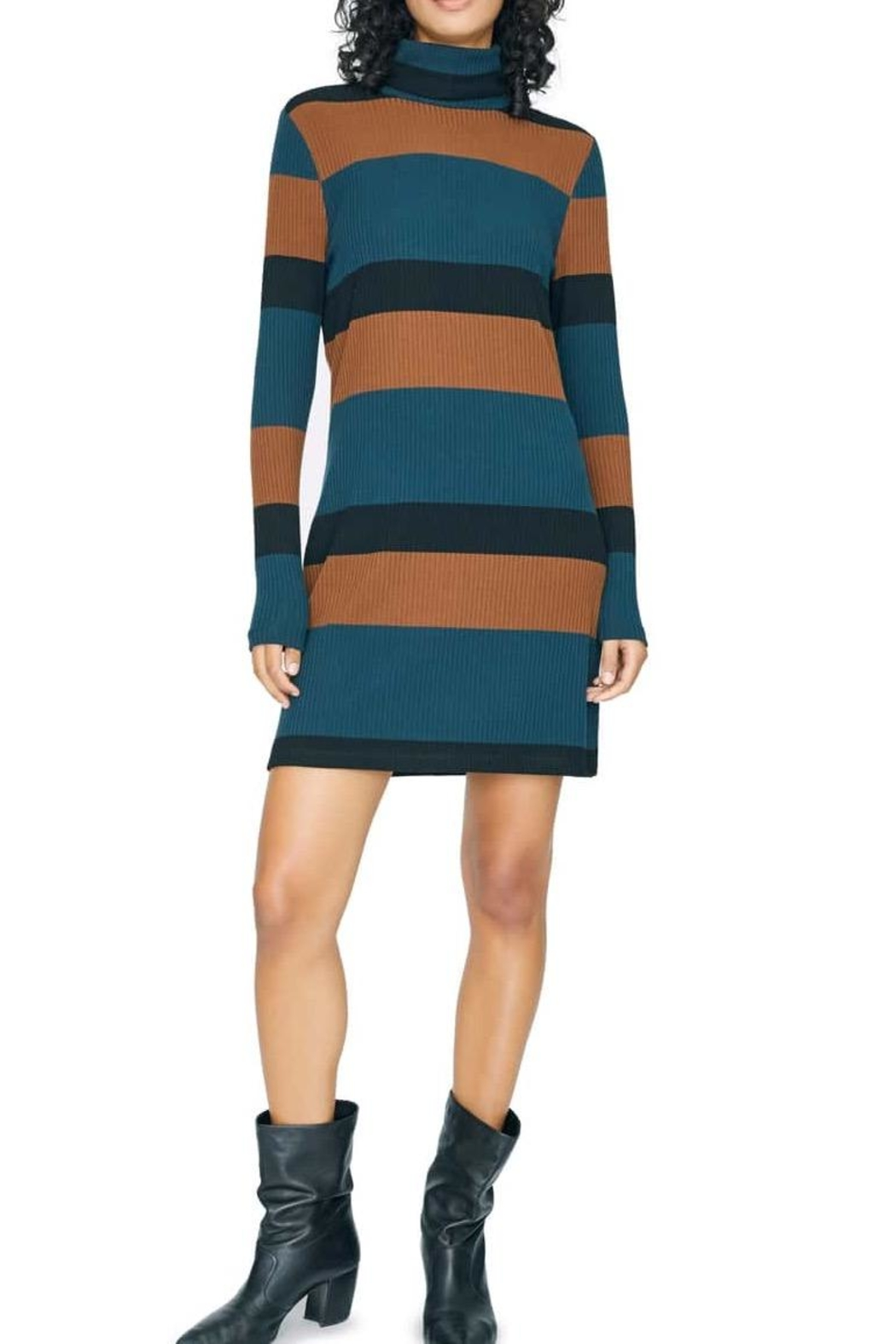 Sanctuary Turtleneck Sweater Dress - Front Cropped Image