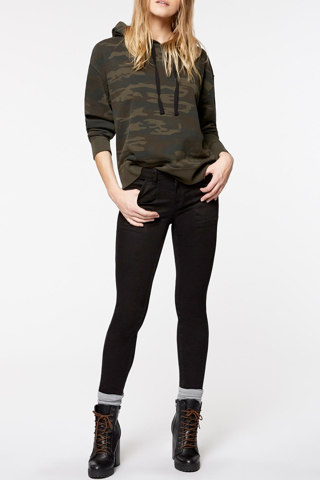 Sanctuary Venice Hoodie Sweatshirt - Side Cropped Image