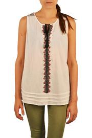 Sanctuary Clothing  White Treasure Tee - Front cropped
