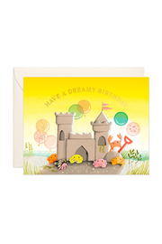 JooJoo Paper Sand Castle Birthday Card - Front cropped