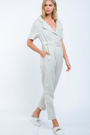 skylar madison Sand Linen Jumpsuit - Product Mini Image