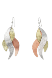 Chick Boss Sand Sculptured earrings - Front cropped
