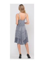 Apparel Love Sand Wash Grey Lace Front Dress - Side cropped