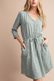 Lyn -Maree's Sand Washed Henley - Product Mini Image
