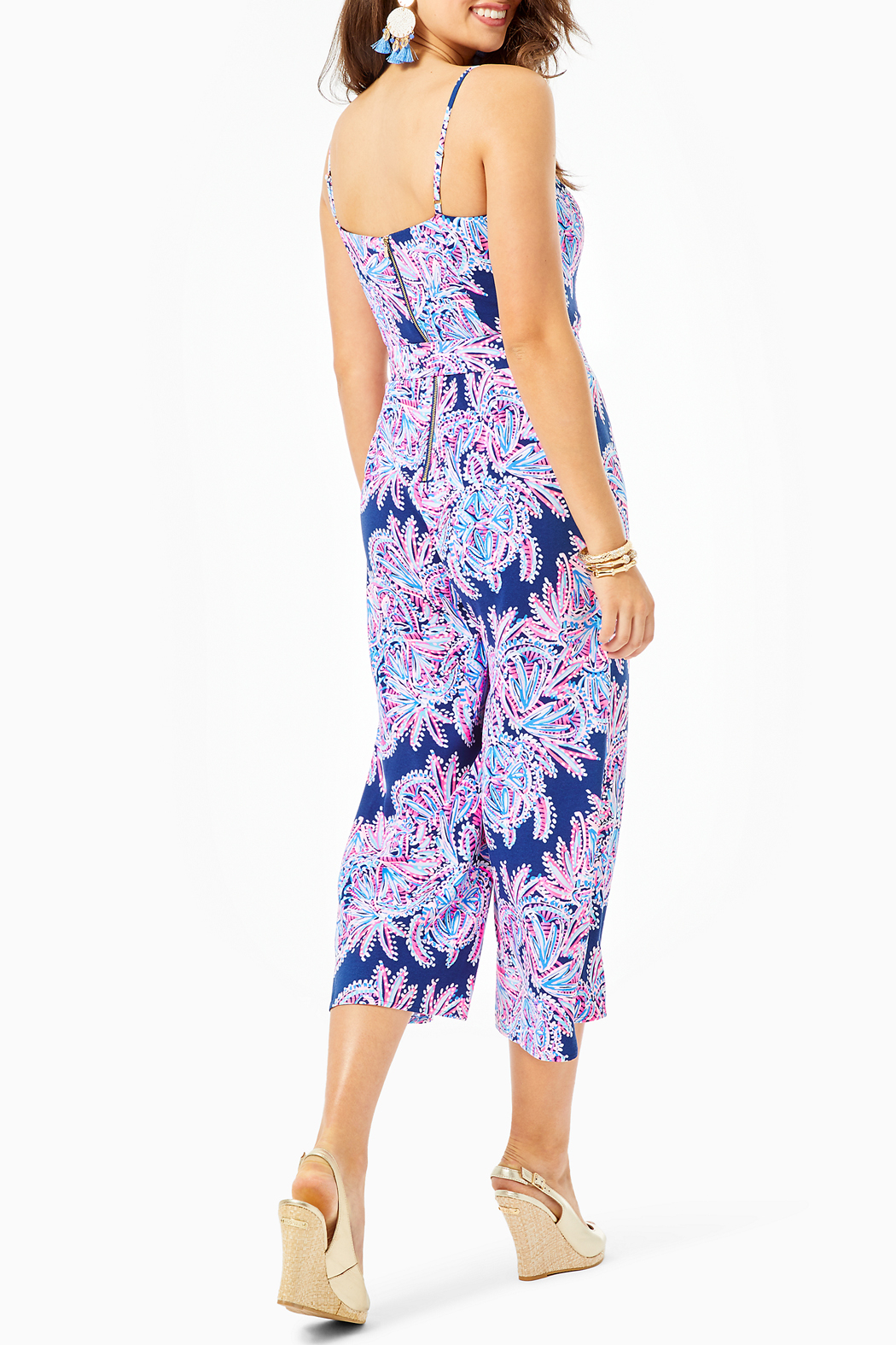 Lilly Pulitzer Sandra Jumpsuit - Side Cropped Image