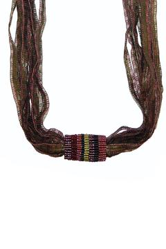 Shoptiques Product: Beaded Ribbon Necklace