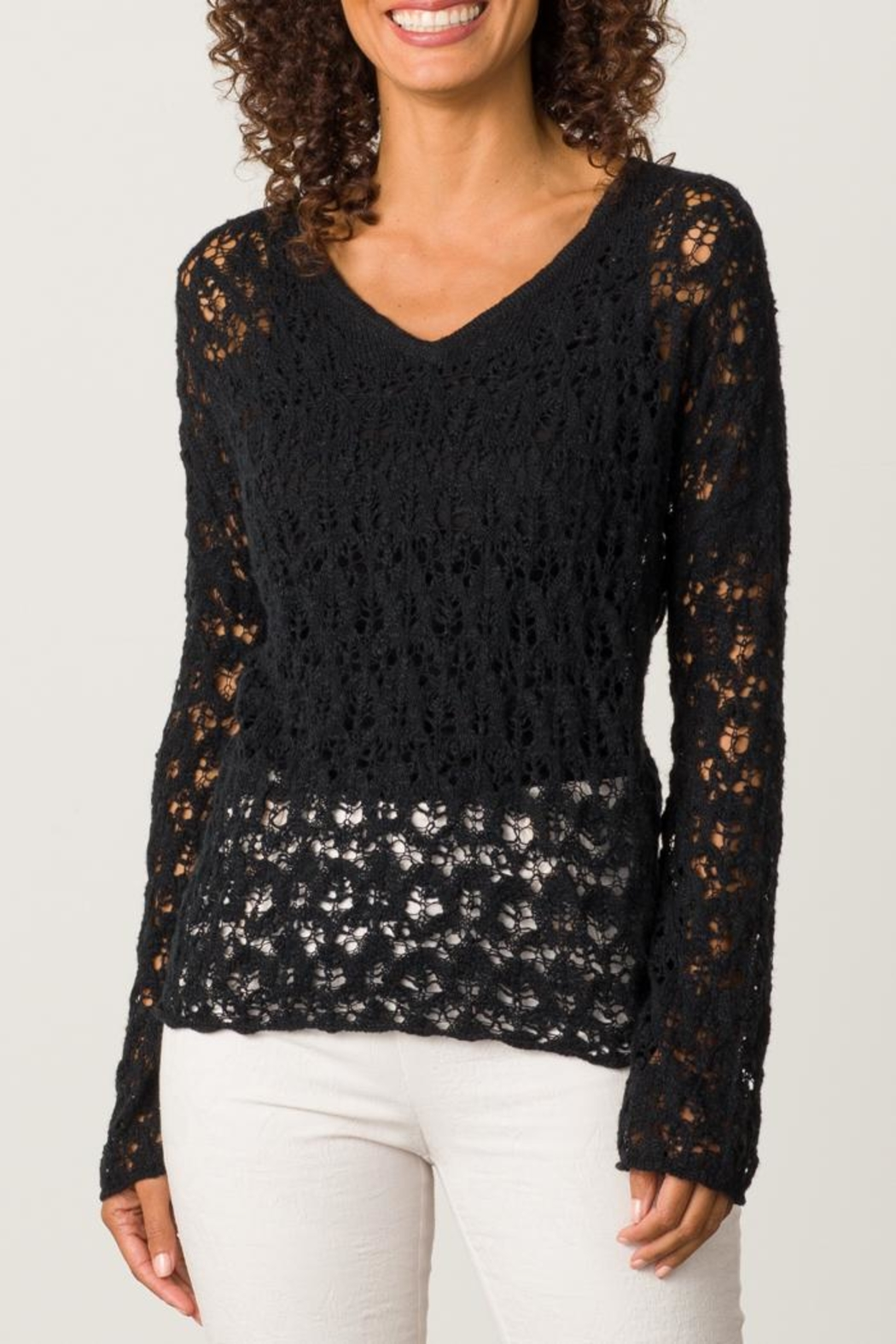 Margaret O'Leary Sandre Lace Vee - Front Cropped Image