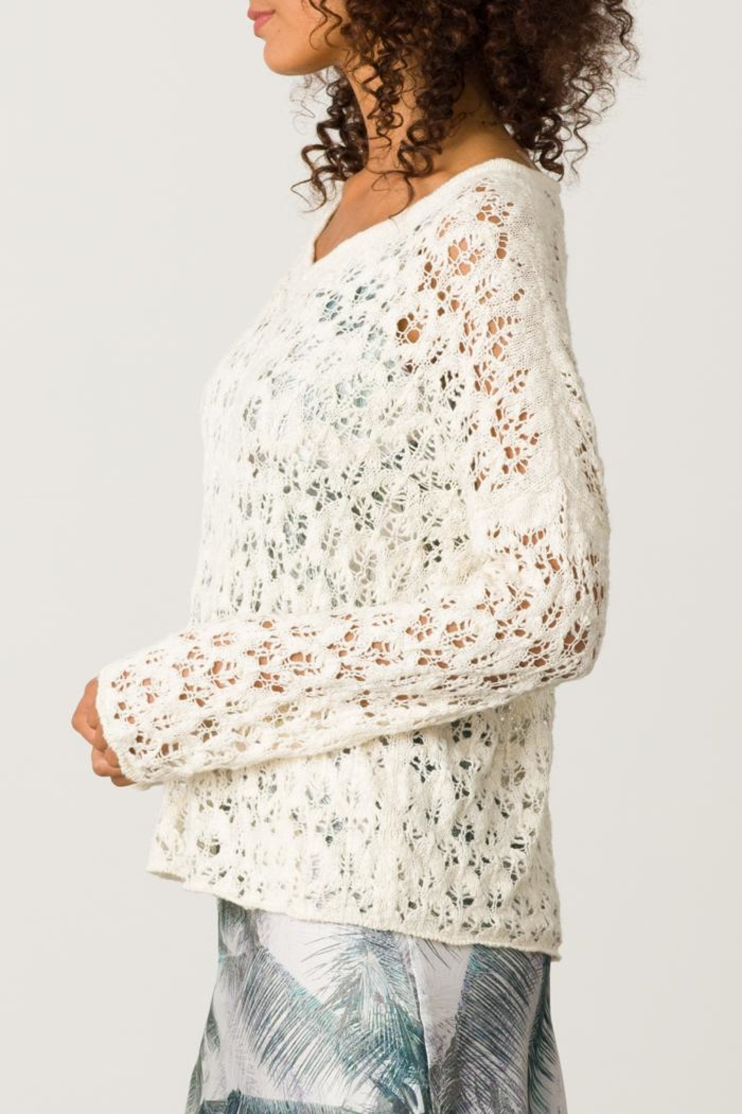 Margaret O'Leary Sandre Lace Vee - Side Cropped Image