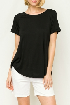 Mystree Sandwashed Top w Pleated Back Panel - Product List Image