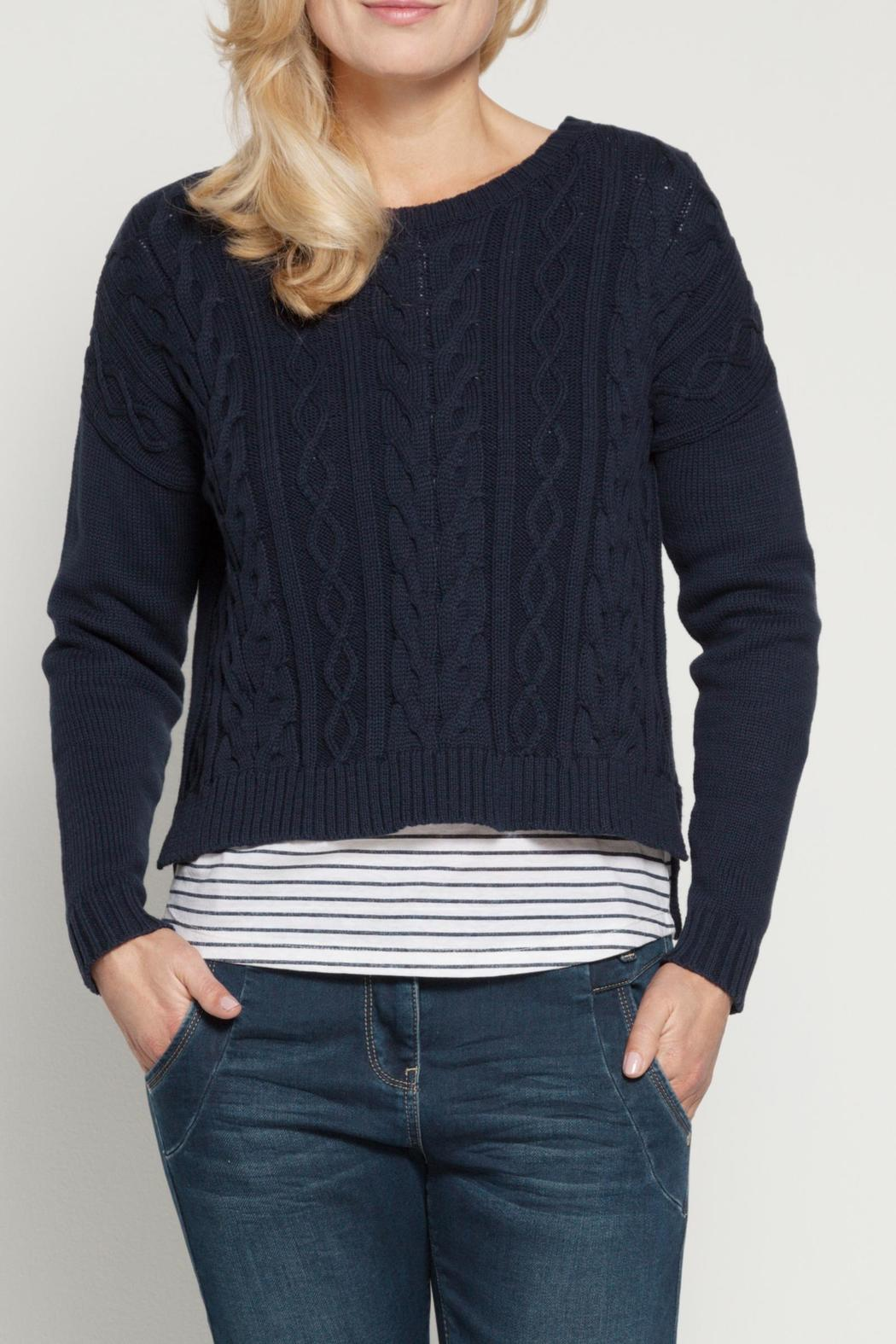 Sandwich Clothing Cropped Cable Sweater from Canada by Moxxi ...