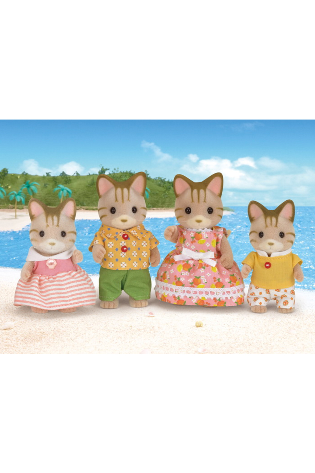 Calico Critters Sandy Cat Family - Front Full Image