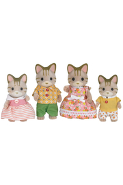 Calico Critters Sandy Cat Family - Front cropped