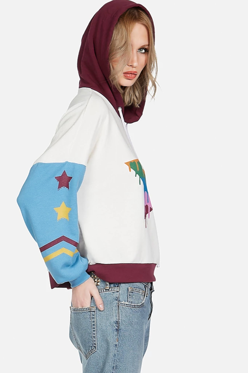 Lauren Moshi Sandy Dripping Star Pullover - Front Full Image