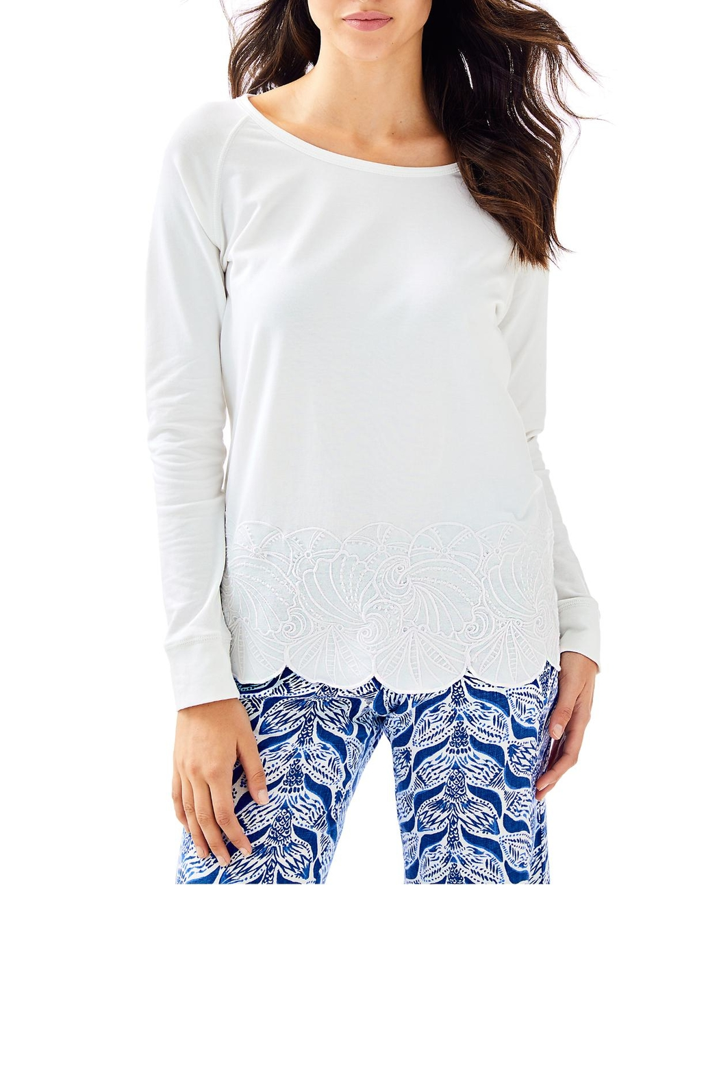 Lilly Pulitzer Sandy Embroidery Popover - Main Image
