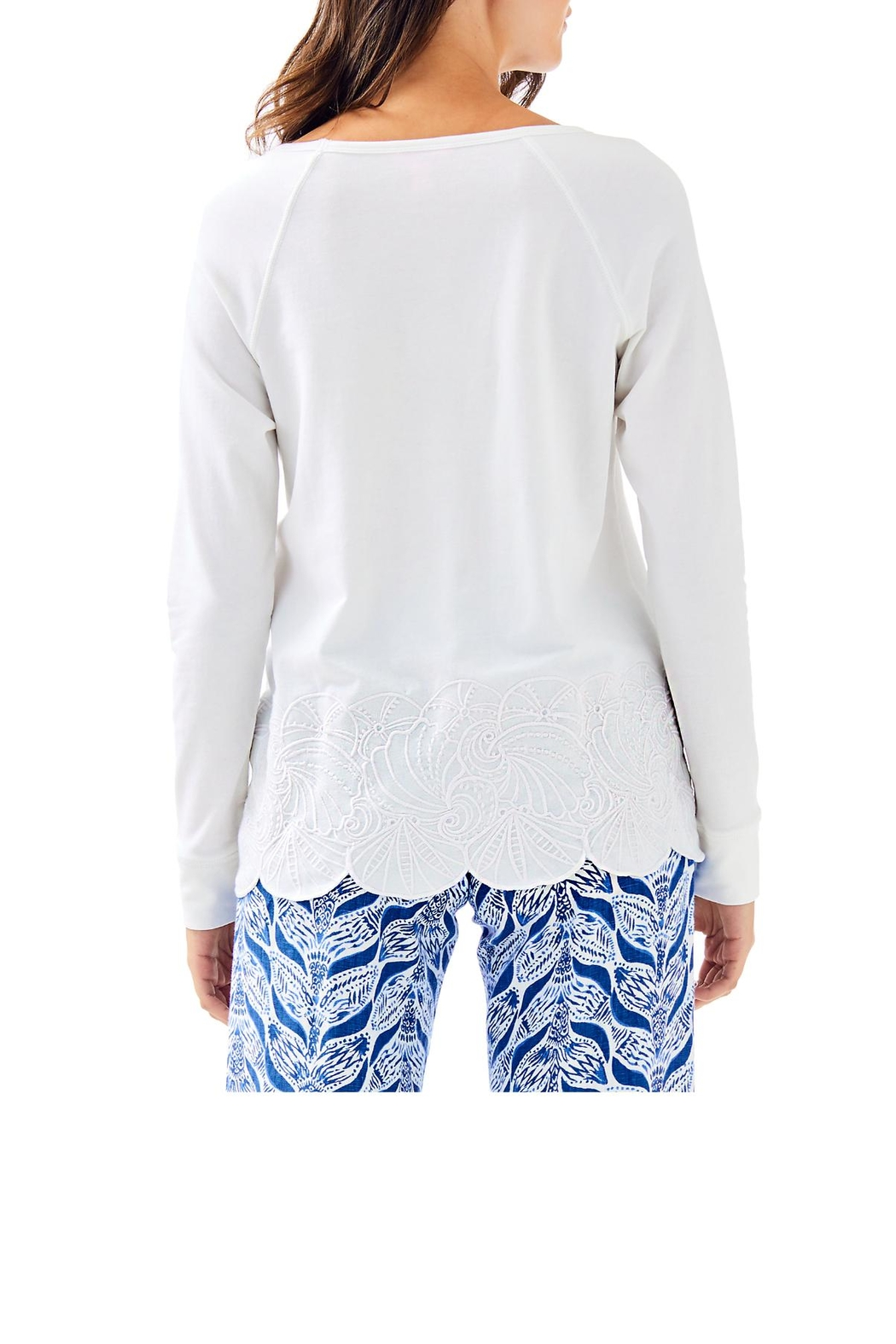 Lilly Pulitzer Sandy Embroidery Popover - Front Full Image