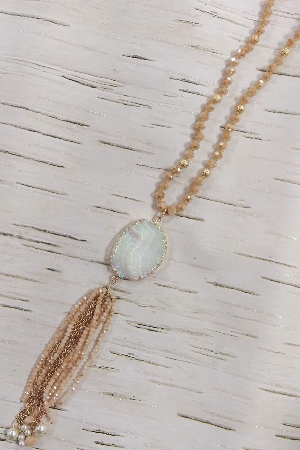 Southern Grace Sandy Shores Beaded Necklace - Main Image