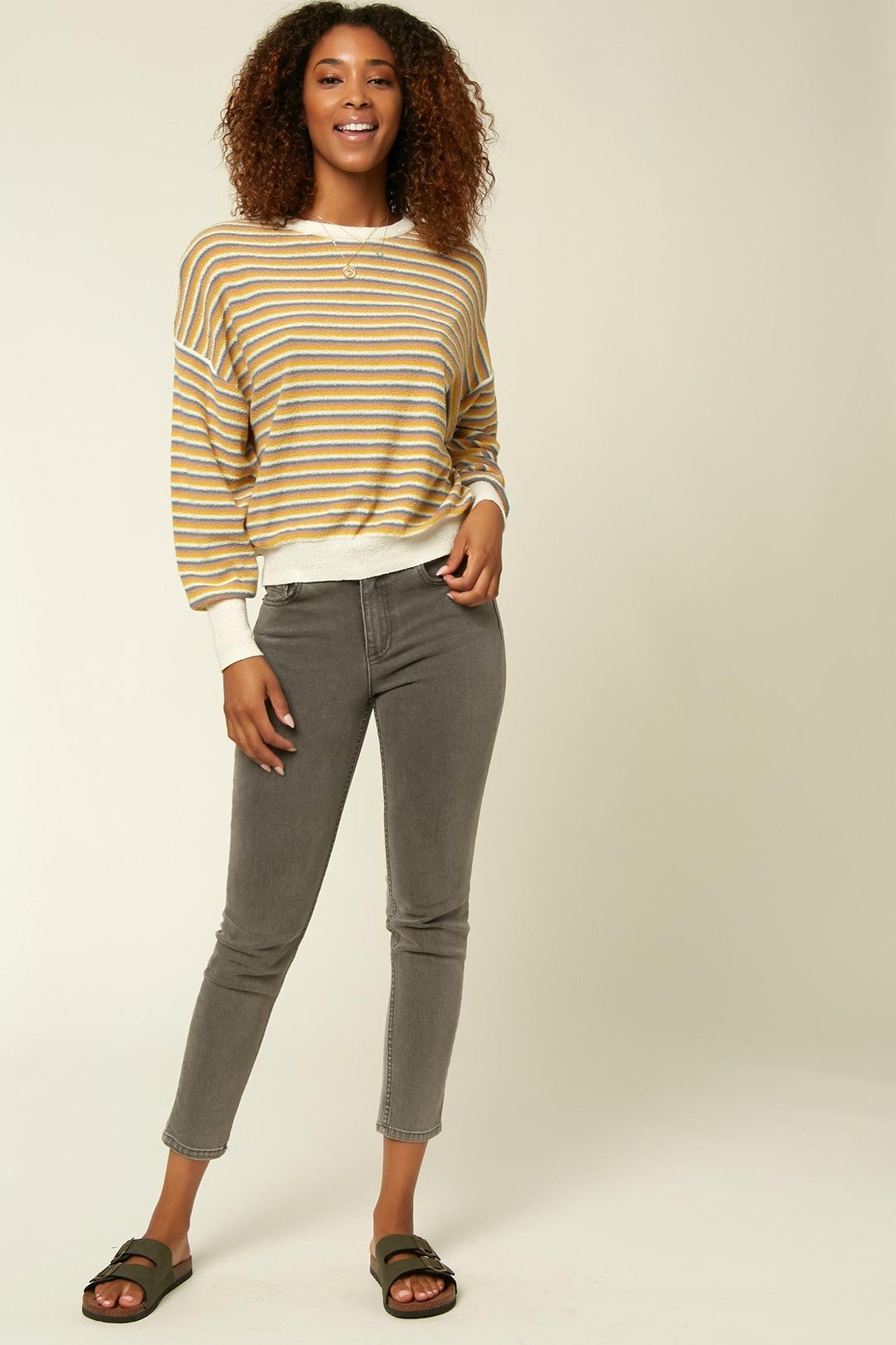 O'Neill Sandy Stripe Sweater - Back Cropped Image