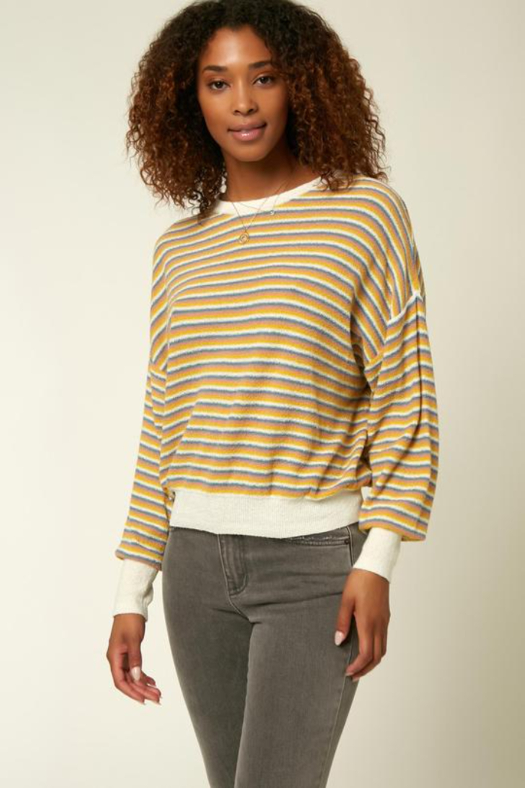 O'Neill Sandy Stripe Sweater - Front Cropped Image