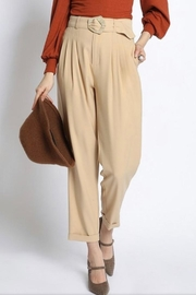 Sans Souci Belted Pleat Pants - Product Mini Image