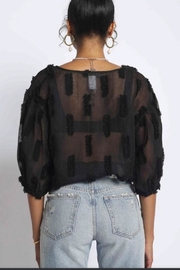 Sans Souci Black Sheer Top - Side cropped