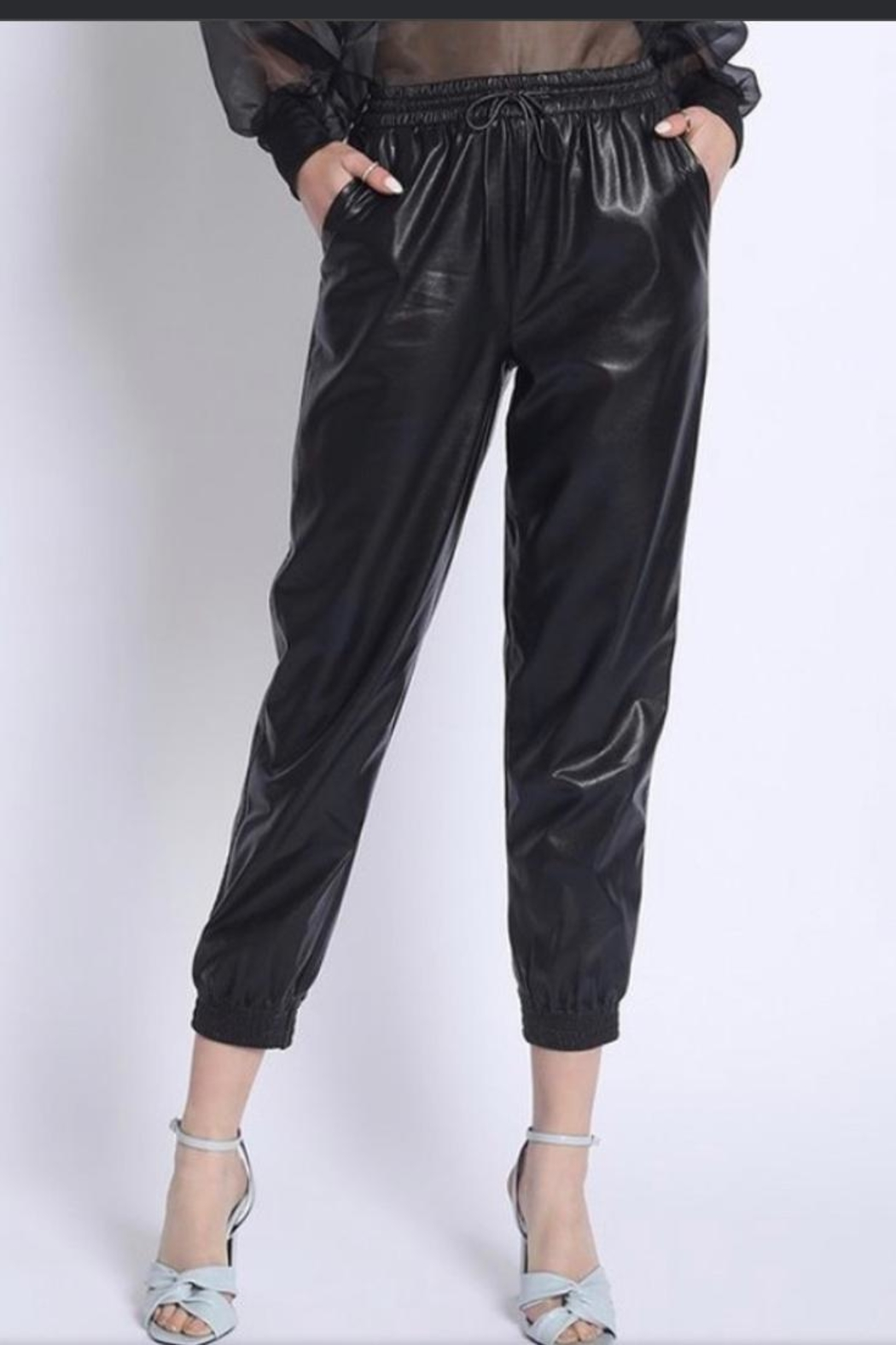 Sans Souci Faux Leather Pants - Main Image