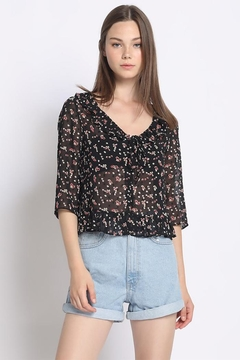 Shoptiques Product: Floral Sheer Blouse