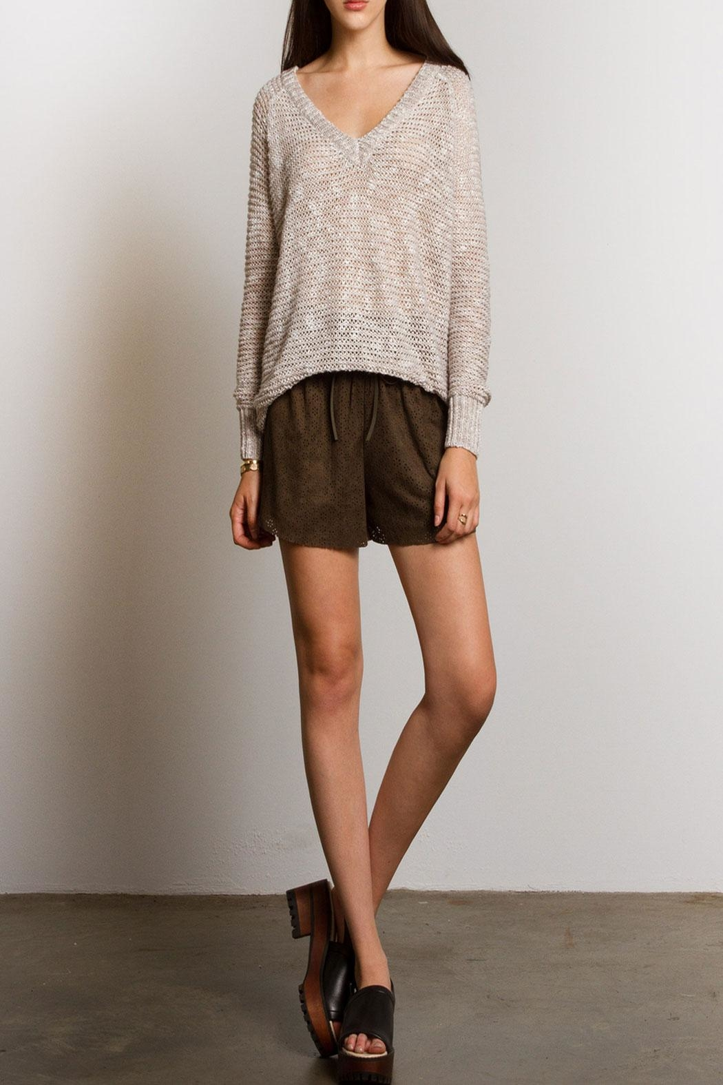Sans Souci Jessica Crochet Sweater - Front Cropped Image