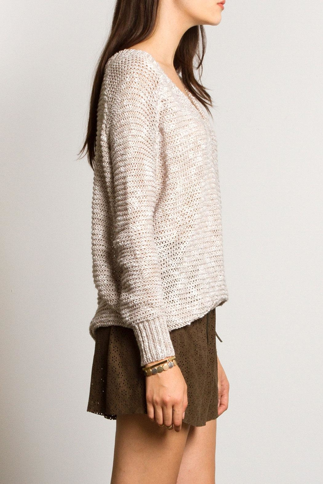Sans Souci Jessica Crochet Sweater - Side Cropped Image