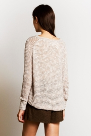 Sans Souci Jessica Crochet Sweater - Back cropped