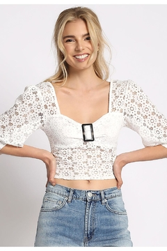Sans Souci Lace L.S. Blouse - Product List Image