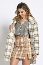Sans Souci Long Plaid Coat - Product Mini Image