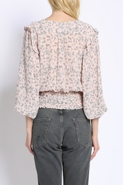 Sans Souci Peach Floral Top - Front full body