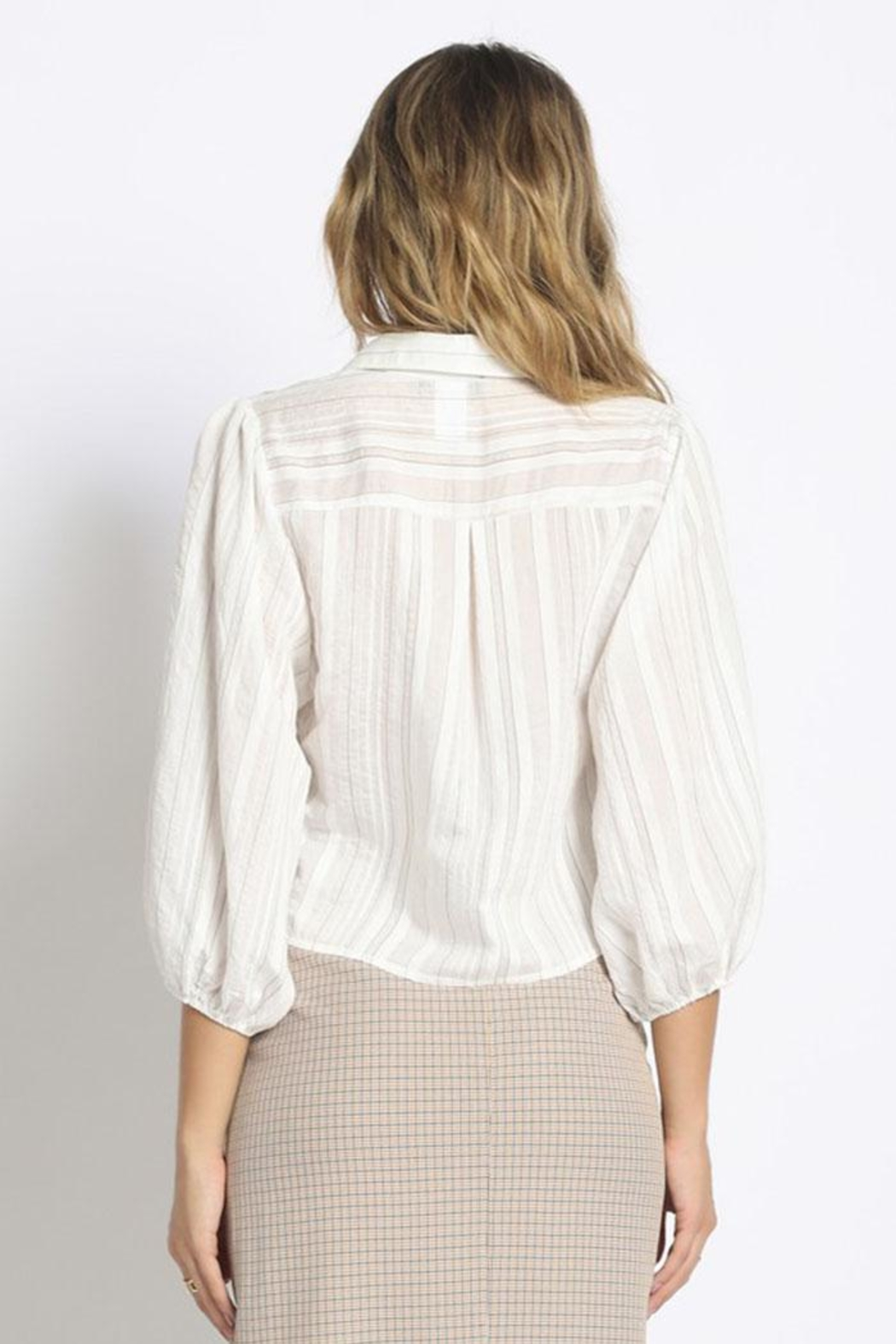 Sans Souci Sheer Striped Blouse - Front Full Image