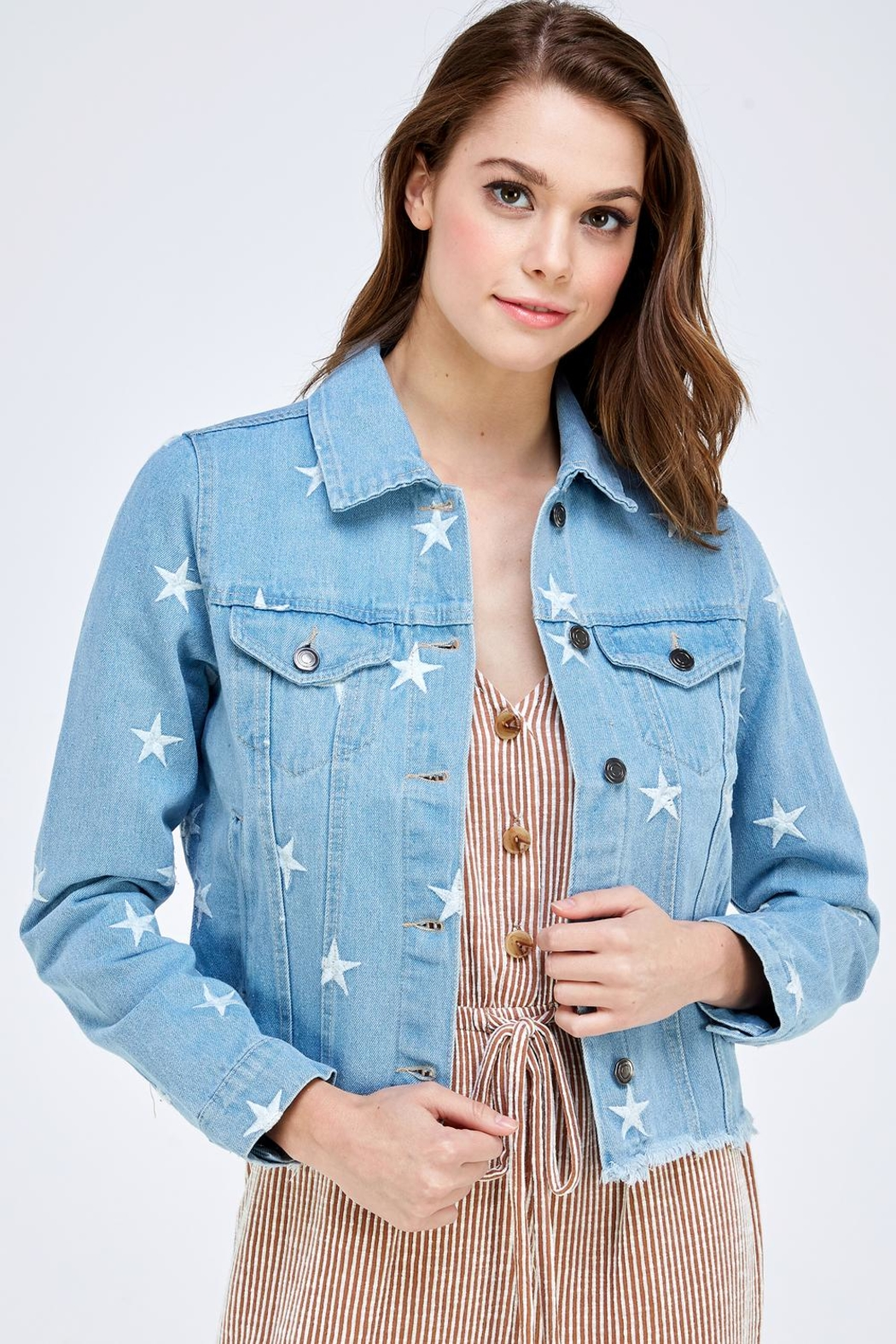 Sans Souci Star Denim Jacket - Main Image
