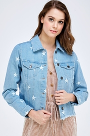 Sans Souci Star Denim Jacket - Front cropped
