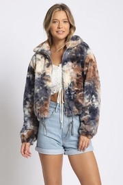 Sans Souci Tiedye Teddy Coat - Product Mini Image