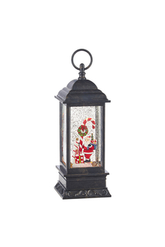 RAZ Imports Santa and Candy Cane Musical Lighted Water Lantern - Alternate List Image