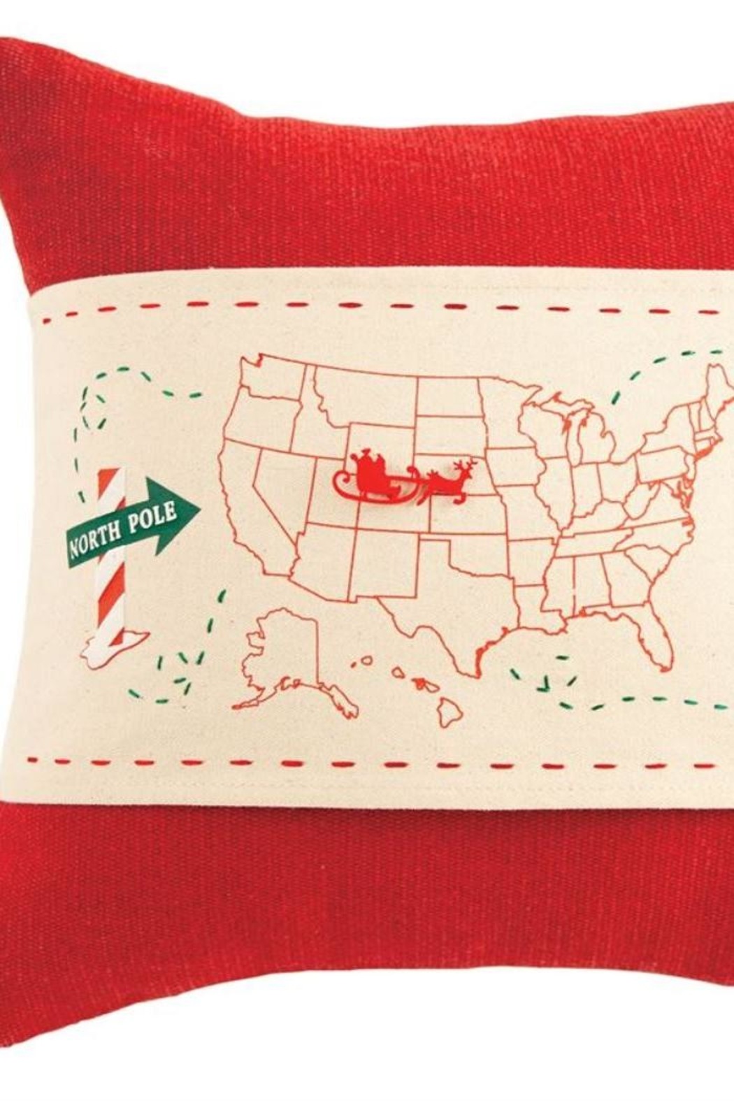 Mud Pie Santa Pillow Wrap - Front Cropped Image