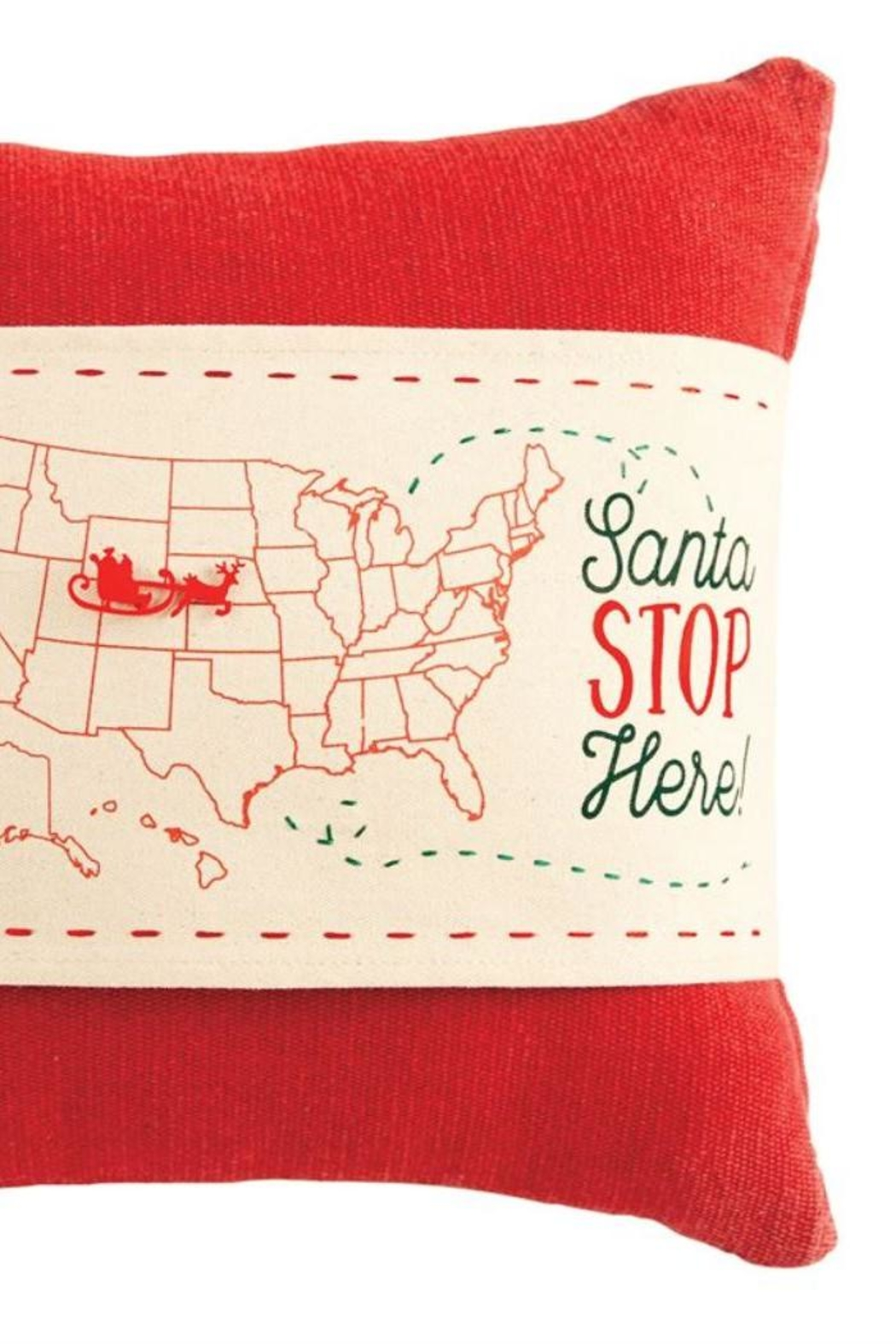 Mud Pie Santa Pillow Wrap - Front Full Image