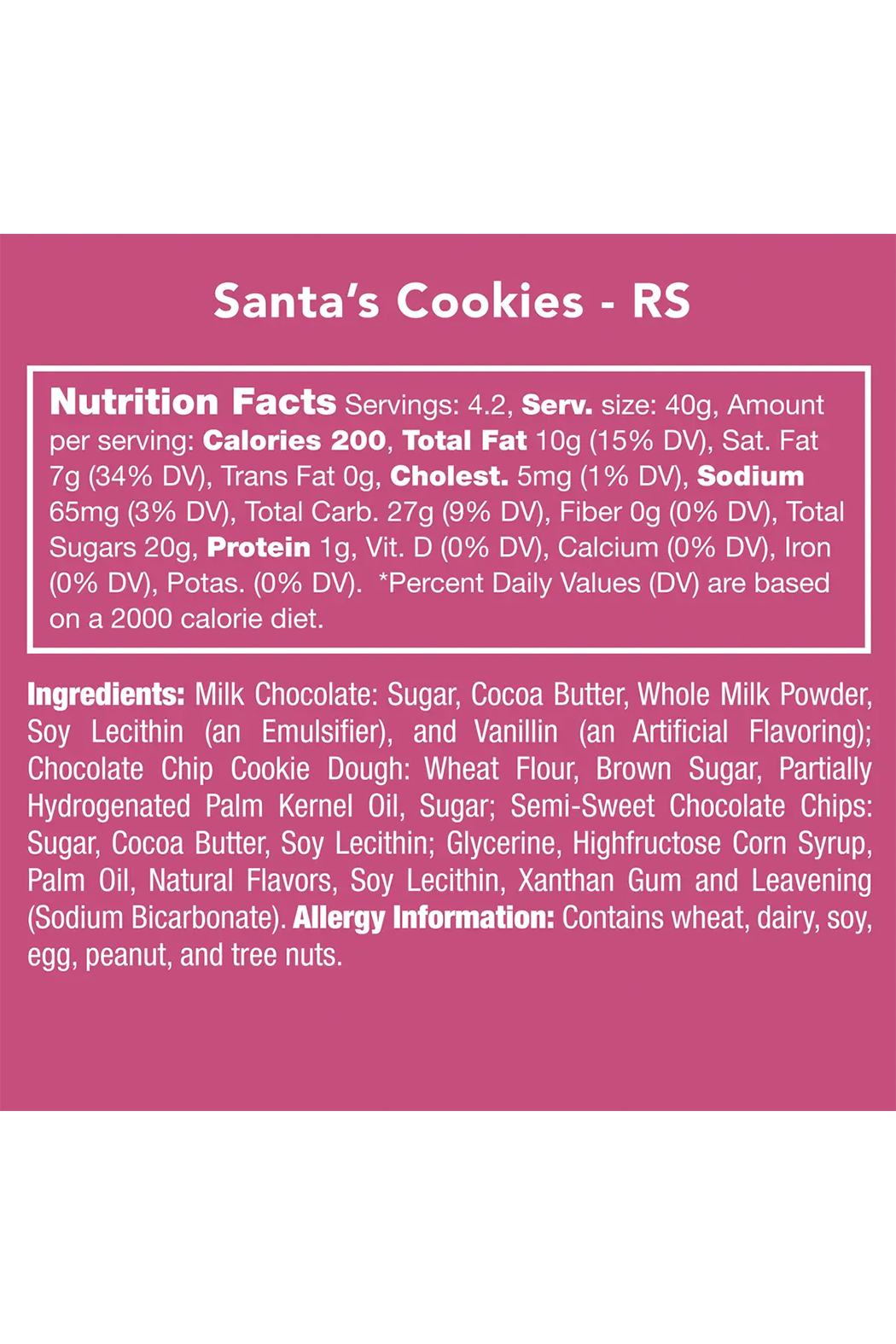 Candy Club Santa's Cookies - Front Full Image