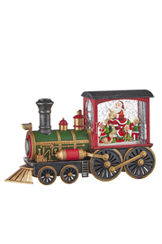 RAZ Imports Santa's List Musical Lighted Water Train - Front cropped