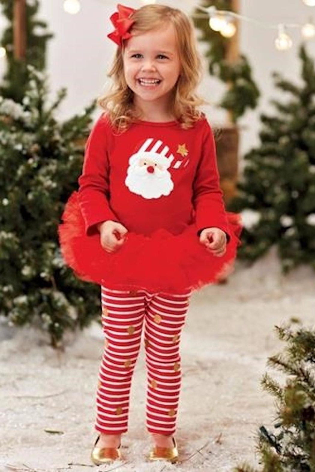 Mud Pie  Santa Tutu Set - Front Cropped Image