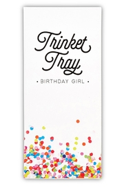 Santa Barbara Design Studio Birthday-Girl Trinket Tray - Side cropped