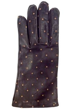 Shoptiques Product: Brown Dots Leather Glove