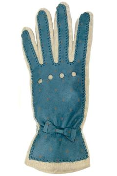 Shoptiques Product: Teal Dots Leather Glove