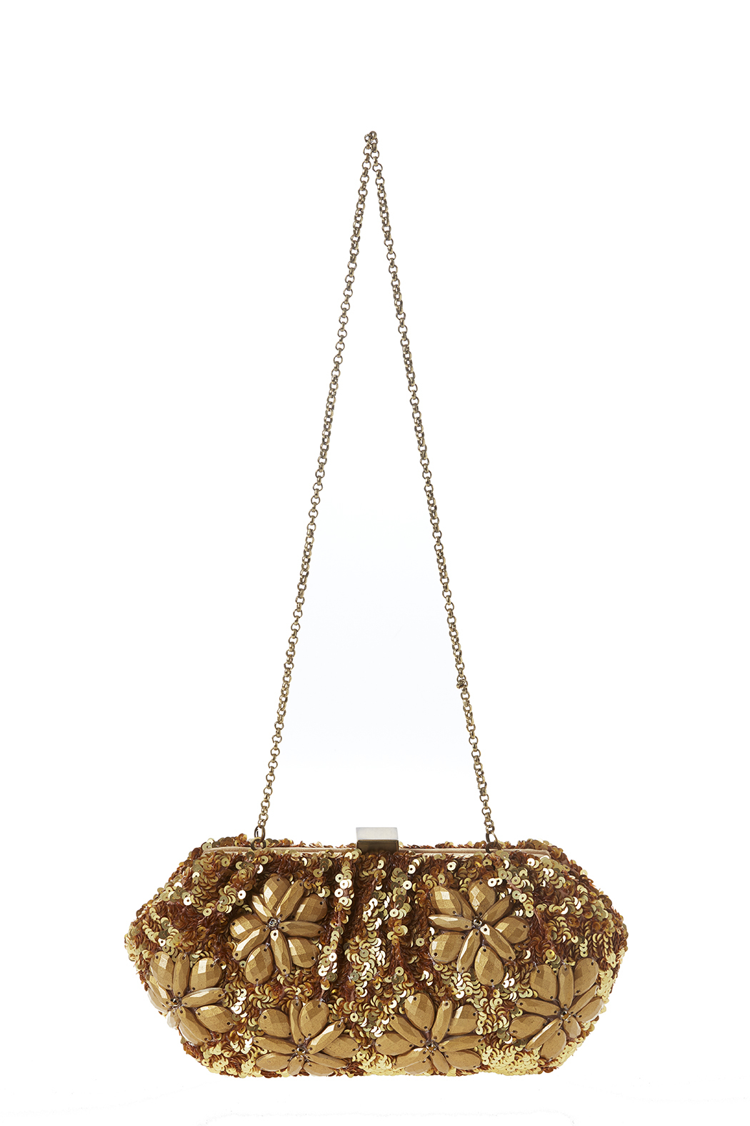 Santi Gold Flowers Clutch - Front Cropped Image