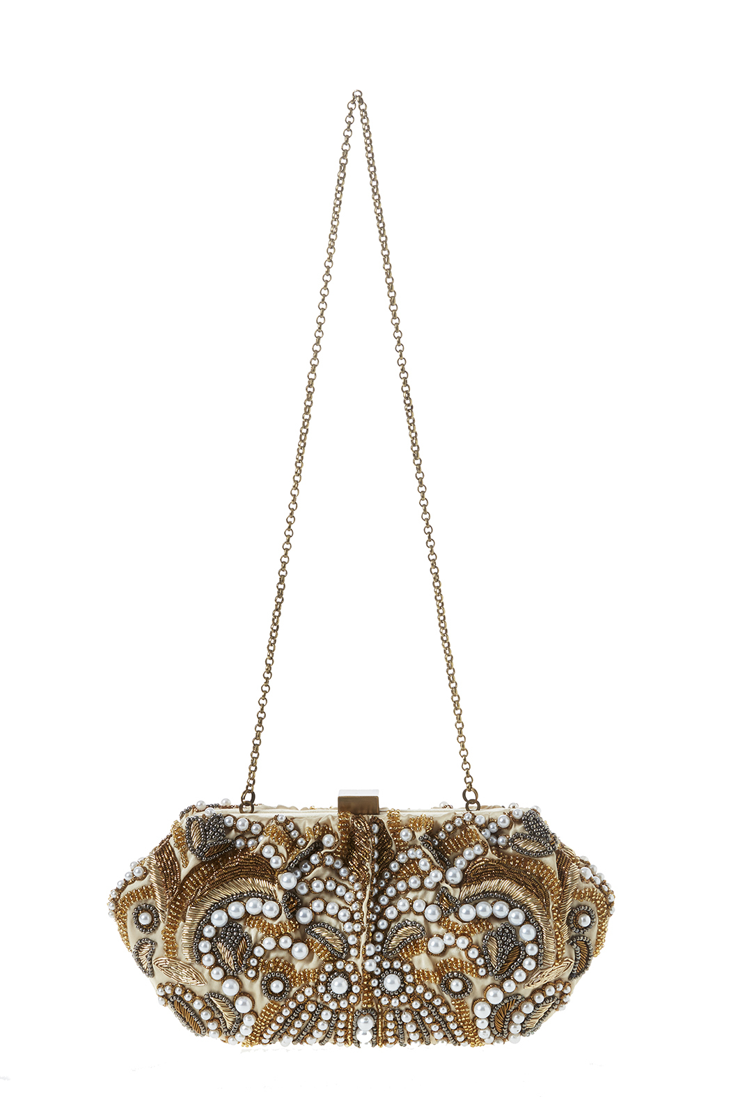 Santi Gold Pearl Clutch - Front Cropped Image